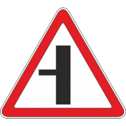 2.3.3 Примыкание второстепенной дороги с лево