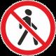 3.10 Движение пешеходов запрещено