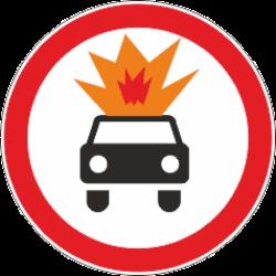 3.33 Движение транспорта с взрывчатыми и легко воспламеняющими грузами запрещено