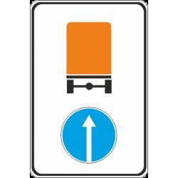 4.8.1 Направление движения автомобилей с опасными грузами прямо