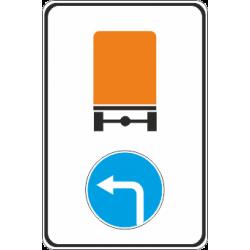 4.8.3 Направление движения автомобилей с опасными грузами лево