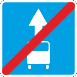 5.14.1 Конец полосы для общественного транспорта